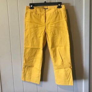 JCrew City Fit Ankle size 4 yellow pants